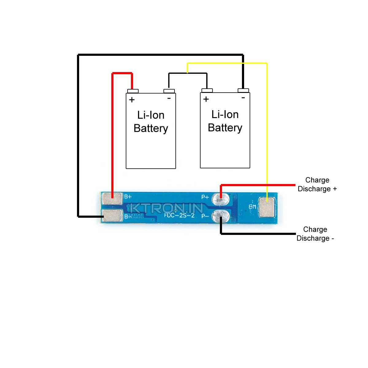 2s 3A BMS Connection Diagram