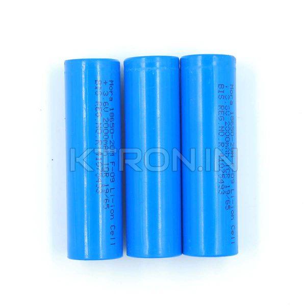 KSTB0013 18650 2000 maH Lithium Ion Battery MORA - 1C Rated - 300 Cycle
