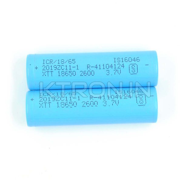 KSTB0016 18650 2600maH Lithium Ion Battery XTT - 0.5c Rated - 500cycle