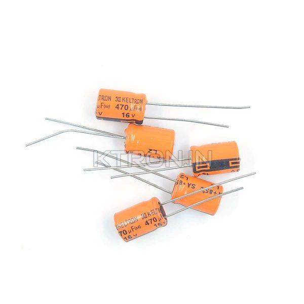 KSTC0118 16v 470uF Electrolytic Capacitor