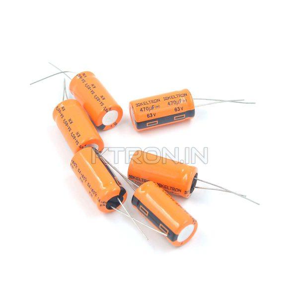KSTC0120 63V 470uF Electrolytic Capacitor