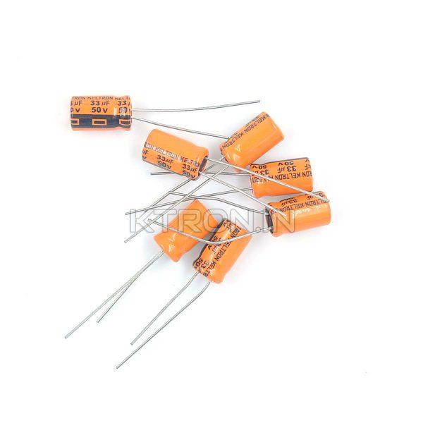 KSTC0123 50V 33uF Electrolytic Capacitor