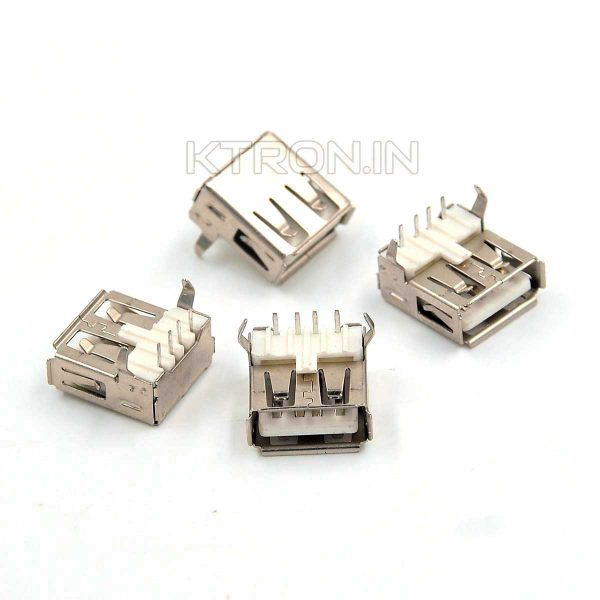 KSTC0441 USB Type A Female Connector with Right Angle Mounting