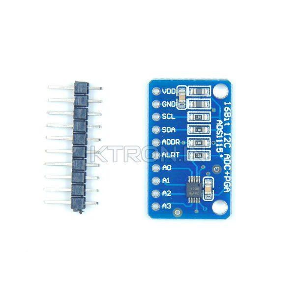 KSTM0010 ADS1115 16Bit I2C 4 Channel ADC Module