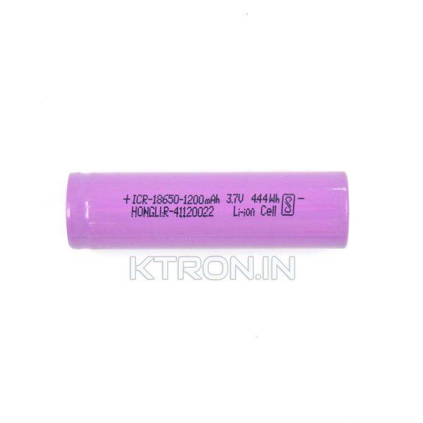 KSTB0687 18650 1200maH Lithium Ion Battery Hongli - 0.5C Rating - 200 cycle